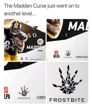 😳 https://t.co/twQCWoFGnR: The Madden Curse just went on to  another level...  MAL  8 4  5 0  EA  SPORTS  MADDEN  NFLPA  @2018 ELEC  FROSTBITE  NFLPA  62018 ELECTRONIC ARTS INC  LPA  201 FROSTBITE  FROSTBITE 😳 https://t.co/twQCWoFGnR