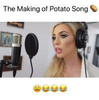 Dumb, Memes, and Stephen: The Making of Potato Song Is she dumb or high or both? 😩😩😂@ivyinaction @stephen_hilton_ @ughitsjoe ivyinaction FULL sketch in link in bio go watch 😂👆🏼