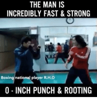 INSANE 😱: THE MAN IS  INCREDIBLY FAST& STRONG  Boxing national player R.H.O  0 INCH PUNCH&ROOTING INSANE 😱