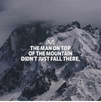Fall, Goals, and Memes: THE MAN ONTOP  OF THEMOUNTAIN  DIDN'T JUST FALL THERE. The price of success is hard work. We all want to succeed. Whether it's in losing weight, learning a new skill or start a new business.. For those of us who have tried and failed, success seems elusive. Why is it one person succeeds where another person fails? First and foremost, I believe it is in their mindset. But secondly, I believe that successful people have developed certain habits, either naturally or through research, that the rest of us haven't stumbled upon yet. Though your boy millmentor wants each of you to succeed in everything you do, I can't guarantee success. Only YOU can do that. It starts in your mind, and from there your thoughts take physical form through your actions. Believing in yourself is a necessity! But here's how you can succeed: (Quick and simple) ✔️Identify your core values. ✔️Pick a goal. ✔️Set a deadline for success. ✔️Build the right mindset. ✔️Prioritize. ✔️Make risks. ✔️Never give up. - Good luck! I mean… get your *ss to work because luck doesn't exist! - goals success achieve millionairementor