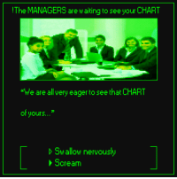 "Dank, Scream, and Game: The MANAGERS are waiting to see your CHART  ""We are all very eager to see that CHART  of yours...""  Swallow nervously  Scream this game is happening btw"
