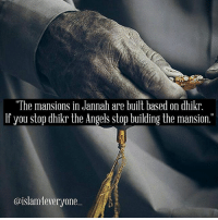 "Allahu Akbar, Anaconda, and Beautiful: ""The mansions in Jannah are built based on dhikr  If you stop dhikr the Angels stop building the mansion.""  @islam everyone Below is a short list of some remembrances that you can incorporate in your day. The goal is to make these beautiful praises of the Creator come up from your heart and roll off of your tongue with ease. 1. Quran: Ultimately, the best dhikr is reading the Quran. Reward: You will be rewarded 10 rewards for every letter read. This prize basically illustrates the weight of the Quran in terms of where it should be in your life. 2. SubhanAllah or SubhanAllah wa bihamdihi (""I praise Allah (or All praise if to Allah) above all attributes that do not suit His Majesty."") Reward: A tree will be planted for you in Paradise. Nice! Start growing your own forest right now! Another hadith relates that whoever says this 100 times a day, his-her sins will be forgiven even if they were as much as the foam of the sea [Bukhari]. 3. Alhamdulillah (""All praise is for Allah."") Reward: Your scales will be tipped on the Day of Judgment, full of rewards! 4. SubhanAllah wal hamdulillah, wa la ilahaillAllah wa Allahu akbar2 ""I praise Allah (or All Praise if to Allah) above all attributes that do not suit His Majesty. All praise is for Allah. This is no deity worthy of worship besides Allah. Allah is Great."" Reward: This combination of dhikr is the one most beloved by Allah, subhana wa ta'ala. When you say them, sins fall off of you like leaves off of trees. 5. La hawla wa la quwwata illa billah (""There is no power or might except (by) Allah."") Reward: You will enter through a special door in Paradise for those who oft use this remembrance. 6. SubhanAllah (x33), Alhamdulillah (x33), Allahu akbar (x34). Can be recited after salat and before you go to bed-sleep. (""I praise Allah (or All praise if to Allah) above all attributes that do not suit His Majesty. All praise is to Allah. Allah is Great."") Reward: We know that this dhikr is said after each salah, but when Fatima the daughter of the Prophet came to her father requesting a servant to help with the household, the Messenger of Allah told her to repeat the dhikr before her sleep and the results would be better than having a servant. Tag and share"