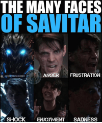 Batman, Click, and Funny: THE MANY FACES  OF SAVITAR  ANGER  FRUSTRATION  NERDY COMIC,MEMES  SHOCK ENJOYMENT  SADNESS I still can't decide if I love the reveal or not. There is still TWO more episodes that might blow me away. Come on @cwtheflash BLOW ME AWAY! . . . 🚨please be sure to CLICK THE LINK IN MY BIO to listen to our latest podcast episode. It's really funny. It's our Savitar reveal and GotG2 review!🚨 . . . barryallen theflash flash reverseflash hunterzolomon jaygarrick blackflash wallywest kidflash jessequick flashpoint greenarrow arrow stephenamell supergirl melissabenoist greenlantern batman superman wonderwoman aquaman justiceleague guardiansofthegalaxy guardiansofthegalaxyvol2 gotg gotgvol2 babygroot groot starlord rocketraccoon