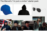 "Superhero, Tumblr, and Blog: The Marvel's ""I'm just a civilian"" starter pack  CIA epicjohndoe:  Seriously, I'm Not A Superhero"