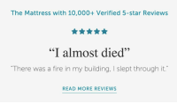 "Fire, Tumblr, and Blog: The Mattress with 10,000+ Verified 5-star Reviews  ""I almost died""  ""There was a fire in my building, I slept through it.""  READ MORE REVIEWS <p><a href=""http://awesomacious.tumblr.com/post/175786074574/well-im-sold"" class=""tumblr_blog"">awesomacious</a>:</p>  <blockquote><p>Well, I'm sold.</p></blockquote>"