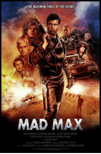 🎬Old School🎬: THE MAXIMUM FORCE OF THE FUTURE  MAD MAX  MEL GIBSON JOANNE SAMUEL HUGH KEAYS BYRNE  STEVE BISLEY TIM BURNS ROGER WARD  BYRON KENNEDY  GEORGE MILLER  BRIAN MAY JAMES MdCAUSLAND GEORGE MILLER 🎬Old School🎬