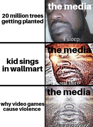 $1 = 1 beautiful tree: the media  20 million trees  getting planted  i sleep  the media  kid sings  in wallmart  real sit  the media  why video games  cause violence  eonded $1 = 1 beautiful tree