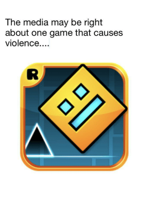 Dank, Memes, and Target: The media may be right  about one game that causes  violence.... Geometry dash memories intensify by ItsEmeraldd MORE MEMES