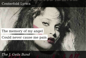 angel in the centerfold lyrics