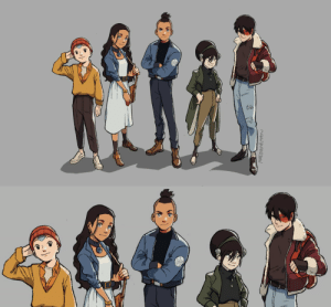 the-messenger-hawk: dragomer:  mmediocreman: the avatar gang in casual wear! Aang look so cute dressed like that.  lookin' like Sokka getting ready to lead his squad on an adventure  : the-messenger-hawk: dragomer:  mmediocreman: the avatar gang in casual wear! Aang look so cute dressed like that.  lookin' like Sokka getting ready to lead his squad on an adventure