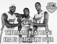 """Naubos ma talaga sila. 😢  Pat Riley has confirmed that Chris Bosh's career with the Miami Heat is over.  """"We are not working toward his return. We did everything we could"""" - Pat Riley  (C) Tim Reynolds  Not 1, not 2, not 3, not 4, not 5, but 6 years later and the Big 3 is over with for the Heat.  Alden Recharge: THE MIAMI HEAT BIGB  ERAIS  OFFICIALLY OVER Naubos ma talaga sila. 😢  Pat Riley has confirmed that Chris Bosh's career with the Miami Heat is over.  """"We are not working toward his return. We did everything we could"""" - Pat Riley  (C) Tim Reynolds  Not 1, not 2, not 3, not 4, not 5, but 6 years later and the Big 3 is over with for the Heat.  Alden Recharge"""