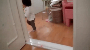 God, Target, and Tumblr: the-mighty-birdy:  heterodoxy: Adorable baby girl being chased by daddy, finally takes a stand. OH GOD MY HEART