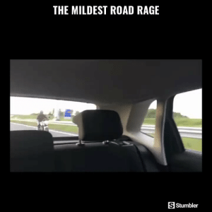 Funny, Memes, and Videos: THE MILDEST ROAD RAGE  S Stumbler RT @StumblerFunny: For more funny videos follow @StumblerFunny or visit https://t.co/wXxwph26cH https://t.co/kgnhThoyB6
