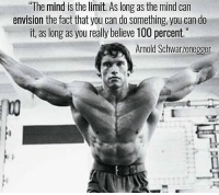 """Anaconda, Arnold Schwarzenegger, and Gym: """"The mind is the limit. As long as the mind can  envision the fact that you can do something you can do  it, as long as you really believe 100 percent  15  Arnold Schwarzenegger GOAT 🐐"""
