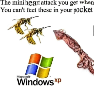 I wont lie this is definitely me when Im driving: The mini heart attack you get when  You can't feel these in your pocket  Microsoft  WindowsXp I wont lie this is definitely me when Im driving