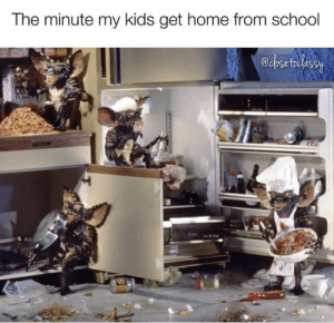 The Minute: The minute my kids get home from schodol