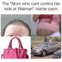 """Memes, Walmart, and Control: The """"Mom who cant control her  kids at Walmart"""" starter pack  G: @comedyrabbit"""
