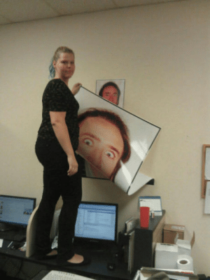 The moment my co worker realized the Cageman is omnipresent: The moment my co worker realized the Cageman is omnipresent