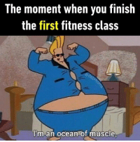 How you lie to yourself. Follow @9gag to have fun. 9gag exercise fitness diet: The moment when you finish  the first fitness class  I'm an ocean of muscle How you lie to yourself. Follow @9gag to have fun. 9gag exercise fitness diet