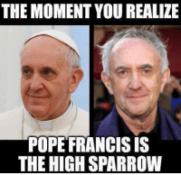 Pope Francis: THE MOMENT YOU REALIZE  POPE FRANCIS IS  THE HIGHSPARROW