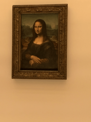 The Mona Lisa. A great visit to the Louvre.: The Mona Lisa. A great visit to the Louvre.
