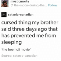 ITS TIME TO GO - Max textpost textposts: the-moon-during-the... Follow  satanic-canadian  cursed thing my brother  said three days ago that  has prevented me from  sleeping  the beemoji movie  Source: satanic-canadian ITS TIME TO GO - Max textpost textposts