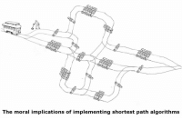 Moral, The, and Path: The moral implications of implementing shortest path algorithms