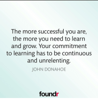 Keep learning ☝ Double tap if you agree and tag a friend that needs to see this!: The more successful you are,  the more you need to learn  and grow. Your commitment  to learning has to be continuous  and unrelenting  JOHN DONAHOE  found Keep learning ☝ Double tap if you agree and tag a friend that needs to see this!