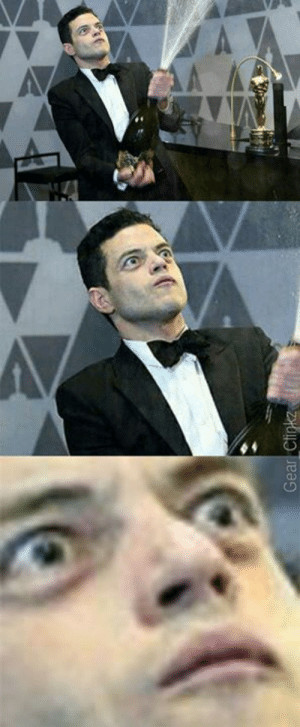 The more you zoom in, the more horrified Rami looks...: The more you zoom in, the more horrified Rami looks...
