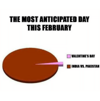 Hell yeah 😆: THE MOST ANTICIPATED DAY  THIS FEBRUARY  VALENTINE'S DAY  INDIA VS. PAKISTAN Hell yeah 😆