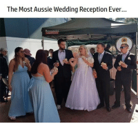 Memes, Wedding, and Aussie: The Most Aussie Wedding Reception Ever... Sydney Couple Have Their Wedding Reception at Bunnings 👍😍