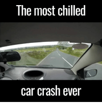 Dank, 🤖, and Crash: The most chilled  car crash ever This is exactly how you should handle every situation. So British 😂👏  via ViralHog