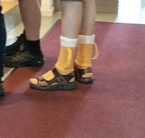 The most German footgear I've ever seen.: The most German footgear I've ever seen.