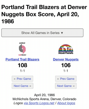 The most glorious game in NBA history took place 34 years ago today. The Earth, stars, and moon aligned! The Blazers played the Nuggets on 4/20. #SparkUp https://t.co/AZYqUpo8Ke: The most glorious game in NBA history took place 34 years ago today. The Earth, stars, and moon aligned! The Blazers played the Nuggets on 4/20. #SparkUp https://t.co/AZYqUpo8Ke