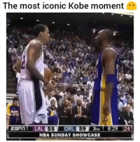 Memes, Nba, and Kobe: The most iconic Kobe moment.  593AD  NBA SUNDAY SHOWCASE  3D 8:29 :24 🐐