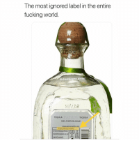 Anaconda, Facts, and Fucking: The most ignored label in the entire  fucking world  @champagne diesel  TEQUILA  TEQUILA  100% PURO DE AGAVE  www.patronspirits.com  Enjoy Responsibly  UK Chief Medical Officers  recommend adults do not  regularly exceed:  28  UK  Unit Big facts 😂💯 https://t.co/MK4X5NvKt4