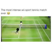 Sorry i haven't posted for two days.: The most intense wii.sport tennis match  ever Sorry i haven't posted for two days.