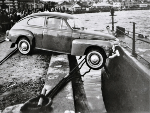 The most unlikely traffic accident? A car hit a submarine in Lysekil, Sweden (1961): The most unlikely traffic accident? A car hit a submarine in Lysekil, Sweden (1961)