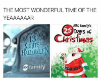 Abc, Christmas, and Family: THE MOST WONDERFUL TIME OF THE  YEAAAAAAR  ABC Family's  Days of  13 Christmas  HALLOMEE  family