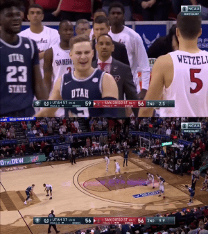 The @mountainwest title is going back to @USUBasketball 🙌  Catch the thrilling ending between The Aggies and San Diego State ⬇️ https://t.co/x4t0b1Kmwn: The @mountainwest title is going back to @USUBasketball 🙌  Catch the thrilling ending between The Aggies and San Diego State ⬇️ https://t.co/x4t0b1Kmwn