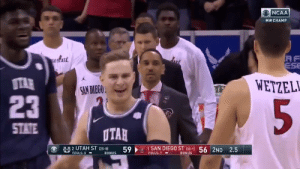 The @MountainWest title is going back to @USUBasketball 🙌  Catch the thrilling ending between The Aggies and San Diego State ⬇️ https://t.co/60KmmWkVb2: The @MountainWest title is going back to @USUBasketball 🙌  Catch the thrilling ending between The Aggies and San Diego State ⬇️ https://t.co/60KmmWkVb2