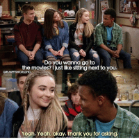 Memes, Movies, and Yeah: the movies? just ikrstding hext to you  the movies? 1 just like sitting next to you.  GIRLMEETSWORLDHD  Yeah. Yeah, okay. Thank you for asking. miss this show
