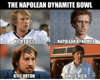 Football, Napoleon Dynamite, and Nfl: THE NAPOLEAN DYNAMITE BowL  nNICK ROLES  NAPOLEAN DYNAMITE  KYLE ORTON  UNCLE RICO The Napoleon Dynamite Bowl: