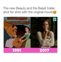 Wow this got me in tears. I'm so excited for this movie!!! Who's your favorite Disney princess?: The new Beauty and the Beast trailer,  shot for shot with the original movie  2017  1991 Wow this got me in tears. I'm so excited for this movie!!! Who's your favorite Disney princess?