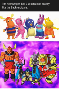 dragon ball: The new Dragon Ball Z villains look exactly  like the Backyardigans.