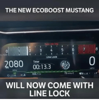 Memes, Game, and Mustang: THE NEW ECOBOOST MUSTANG  tack Usio On  rack Use Ony  x 1000  Line Lock  0  Timer  2080  00:13.3  MPH  RPM  CH 655.1m  WILL NOW COME WITH  LINE LOCK That burnout animation makes it look like a game!