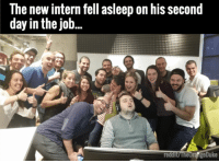It had to be done...: The new intern fell asleep on his second  day in the job  reddi  geDuke It had to be done...