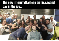 Memes, 🤖, and Job: The new intern fell asleep on his second  day in the job...