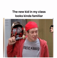 Oh shit I think its nathan lane😳: The new kid in my class  looks kinda familiar  music/BAMD Oh shit I think its nathan lane😳