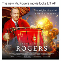 "Af, Imax, and Lit: The new Mr. Rogers movie looks LIT AF  The neighborhood will  never be the same  ド, ROGERS  WARNER BROS,PICTURES PRESEHNTS  ASSOCATION WITH VILLAGE ROADSHOW PICTURES A FLASHLIGHT FILMS PRODUCTION/A KENNEDY/MARSHALL COMPANY PRODUCTION A MALPASO PRODUCTION  팹 TODO KOMARNICKI ""T FRANK MARSHALL Doa ALLYN SI EV ARĪ pga TIM MOORE pga ""W CLINT EAST OOD  CTED B I'm seeing this shit in IMAX 3D👌💯 Collab with @drgrayfang"